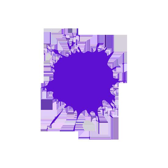 Purple Paint-ball Splat