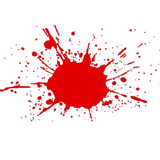 Red Paint-ball Splatter