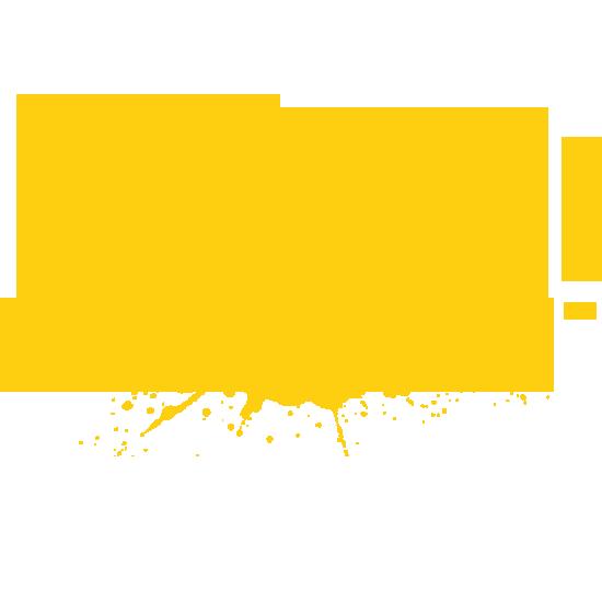 Yellow Paint-ball Splatter